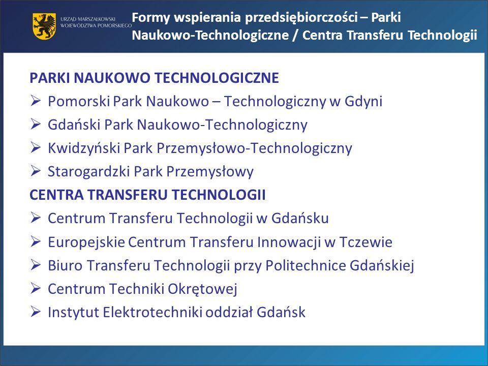 PARKI NAUKOWO TECHNOLOGICZNE