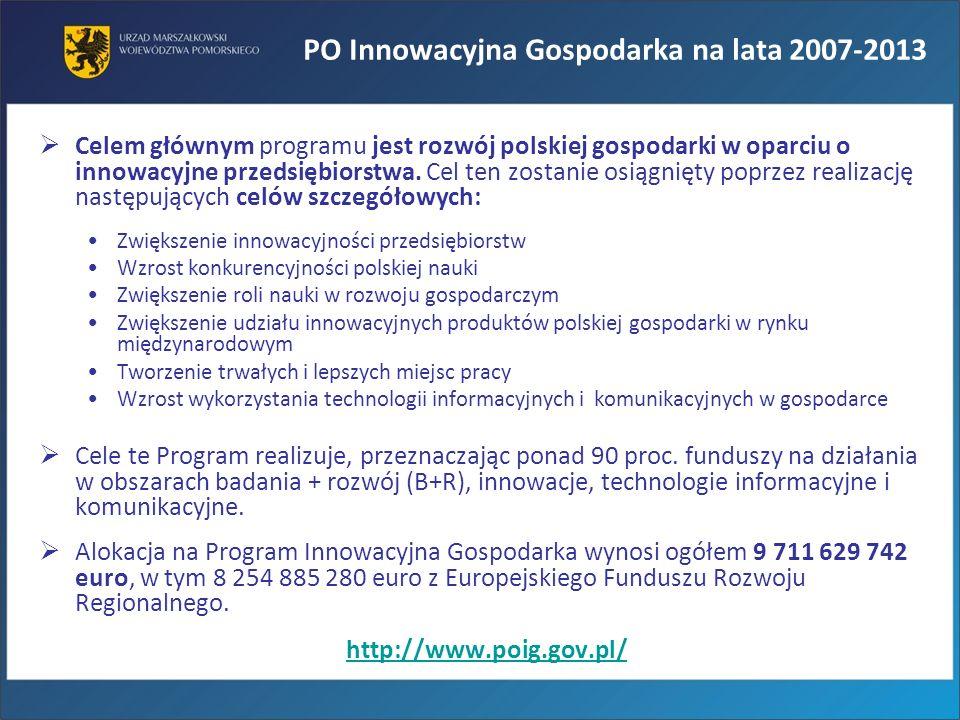 PO Innowacyjna Gospodarka na lata 2007-2013