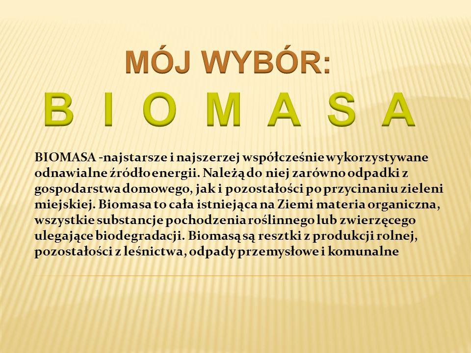 MÓJ WYBÓR: B I O M A S A.