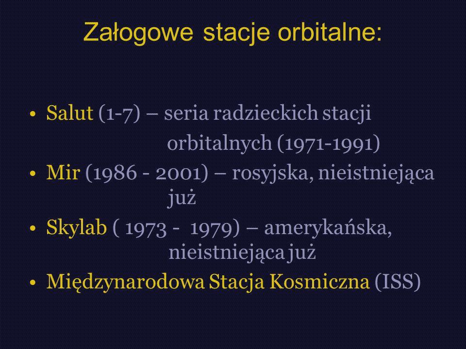 Załogowe stacje orbitalne: