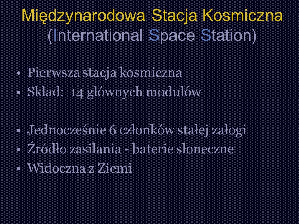 Międzynarodowa Stacja Kosmiczna (International Space Station)