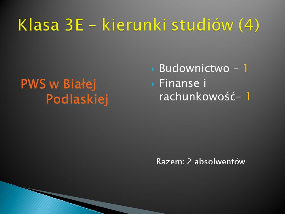 Klasa 3E – kierunki studiów (4)