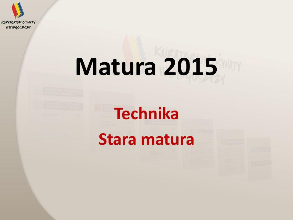 Matura 2015 Technika Stara matura
