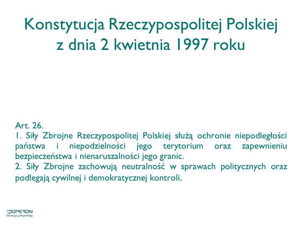 Konstytucja Rzeczypospolitej Polskiej z dnia 2 kwietnia 1997 roku