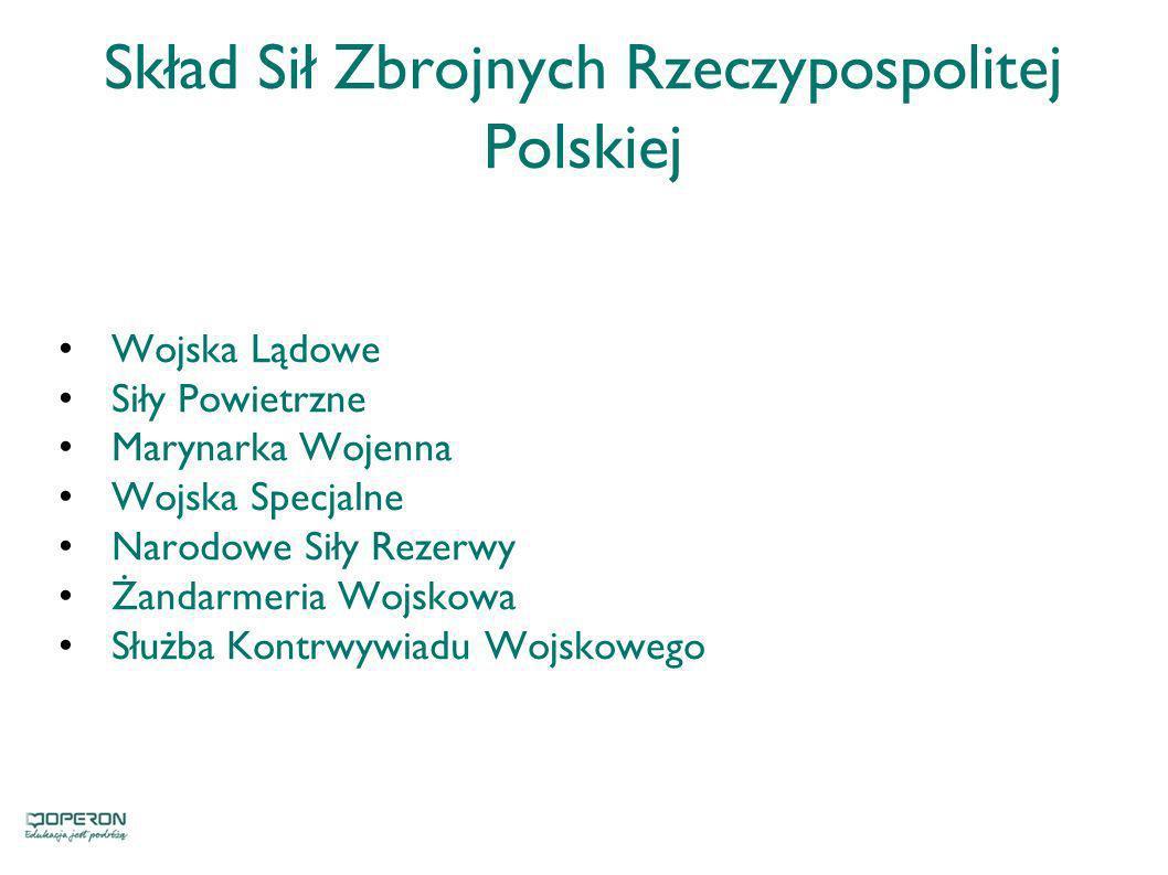 Skład Sił Zbrojnych Rzeczypospolitej Polskiej