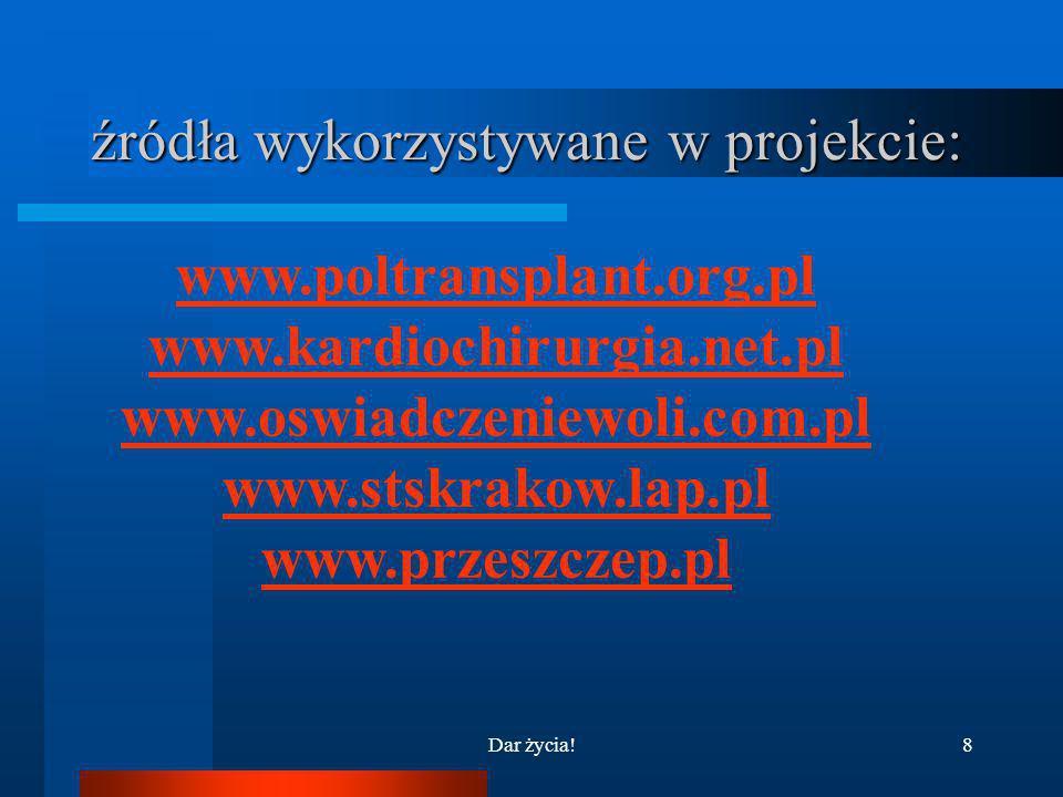 źródła wykorzystywane w projekcie: