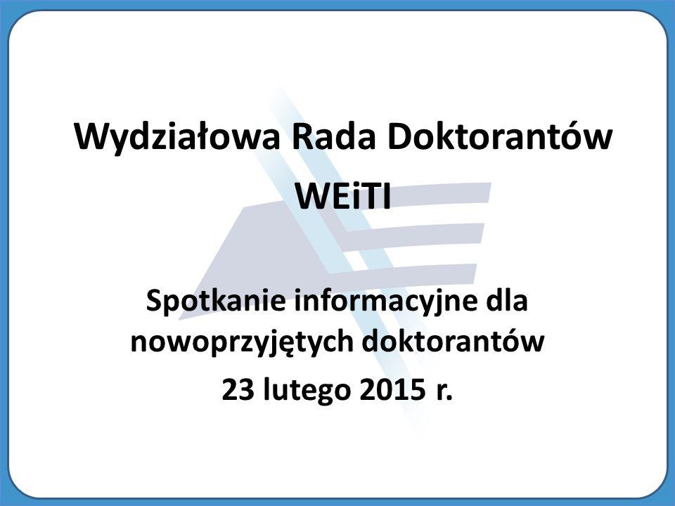 Wydziałowa Rada Doktorantów WEiTI