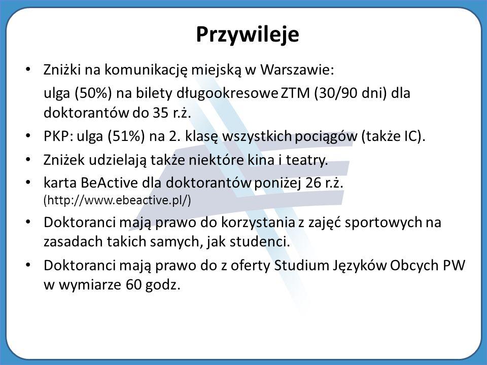 Przywileje Zniżki na komunikację miejską w Warszawie: