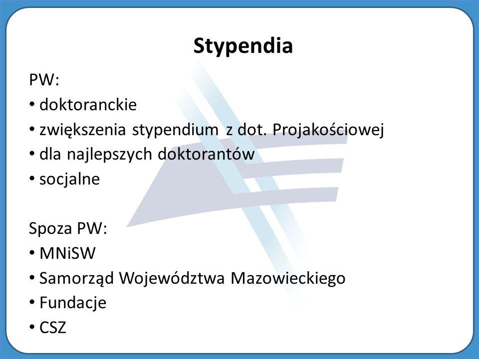 Stypendia PW: doktoranckie