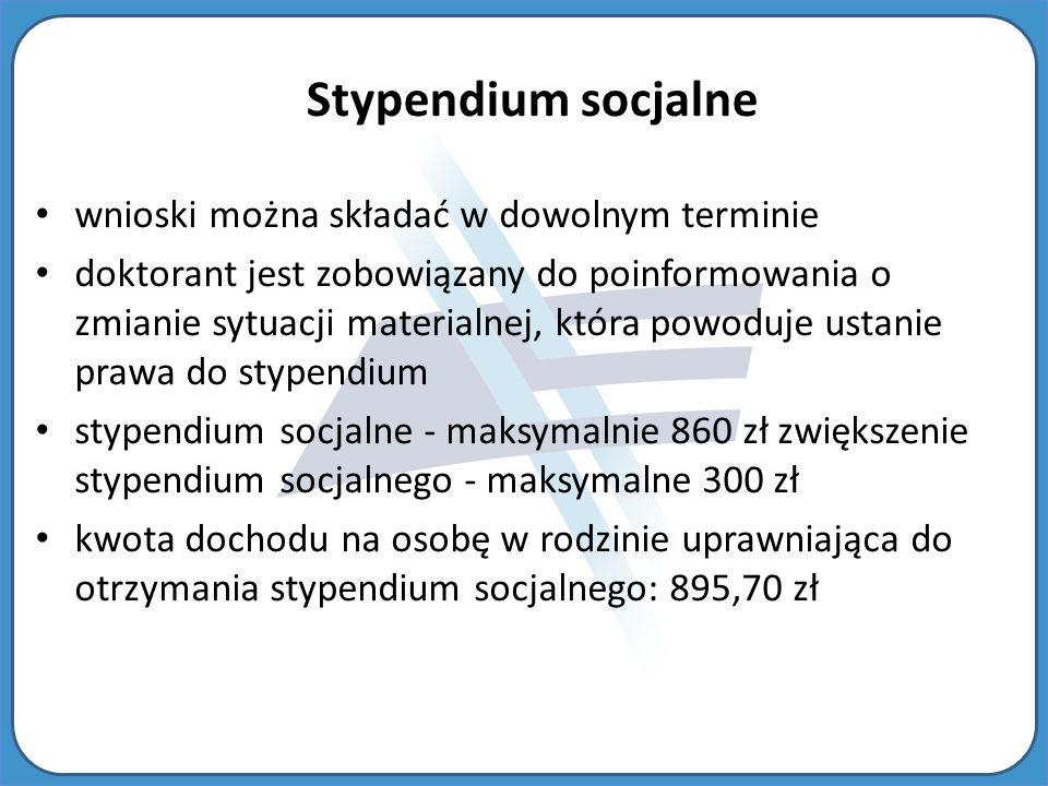 Stypendium socjalne wnioski można składać w dowolnym terminie