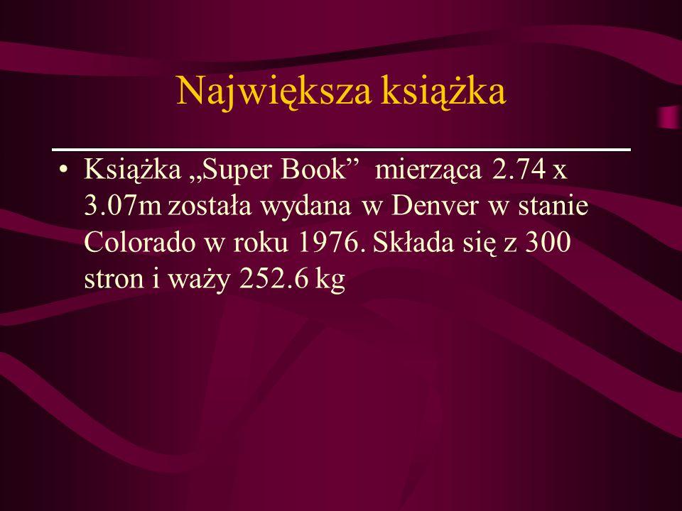 Największa książka