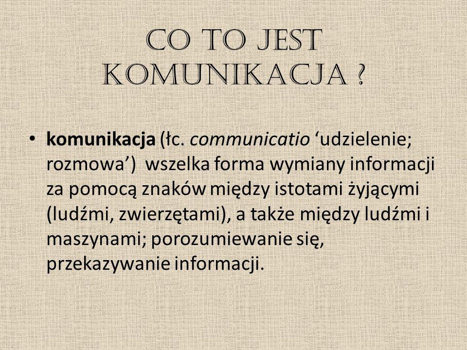 Co to jest komunikacja