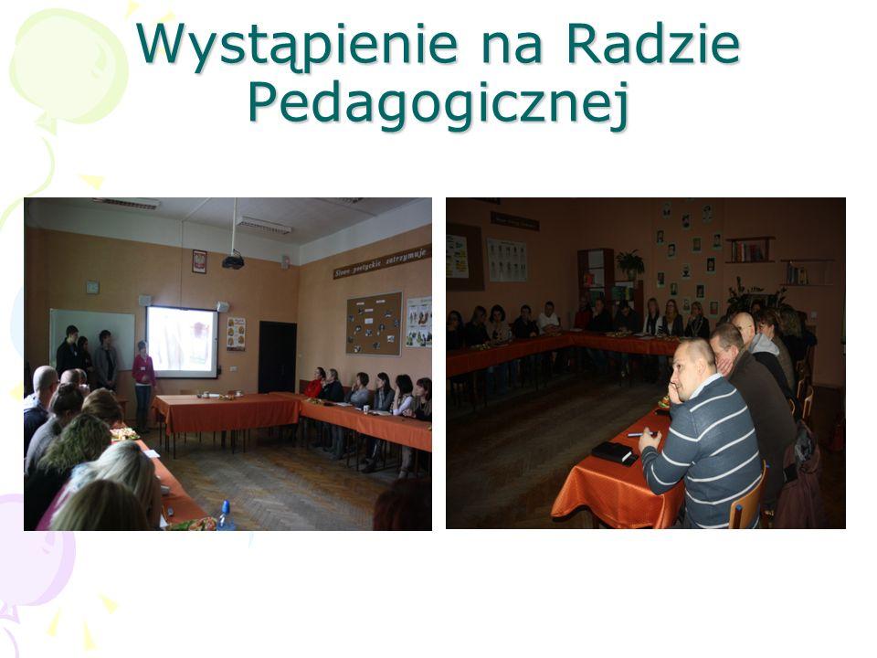 Wystąpienie na Radzie Pedagogicznej