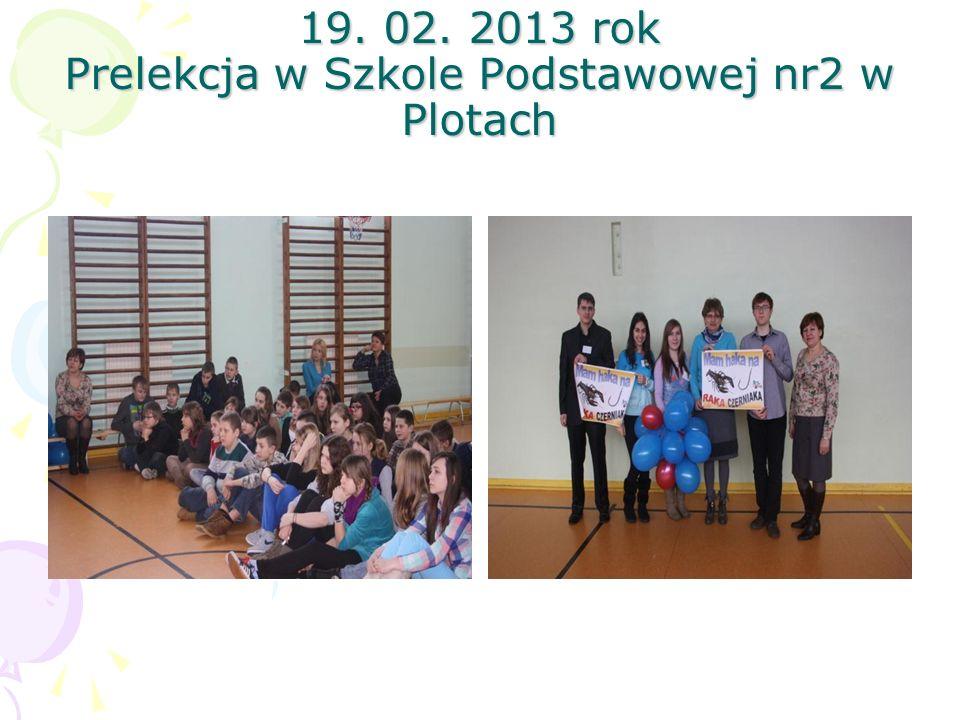 19. 02. 2013 rok Prelekcja w Szkole Podstawowej nr2 w Plotach