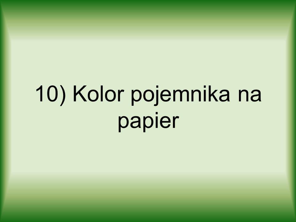 10) Kolor pojemnika na papier