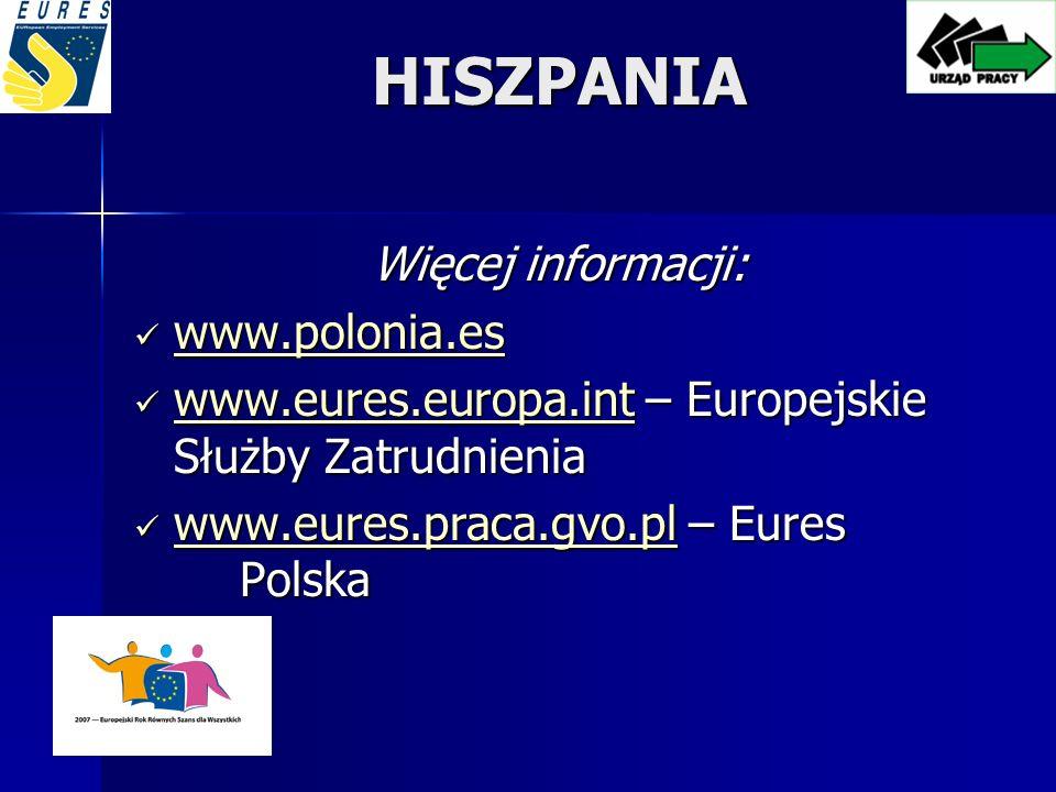 HISZPANIA Więcej informacji: www.polonia.es