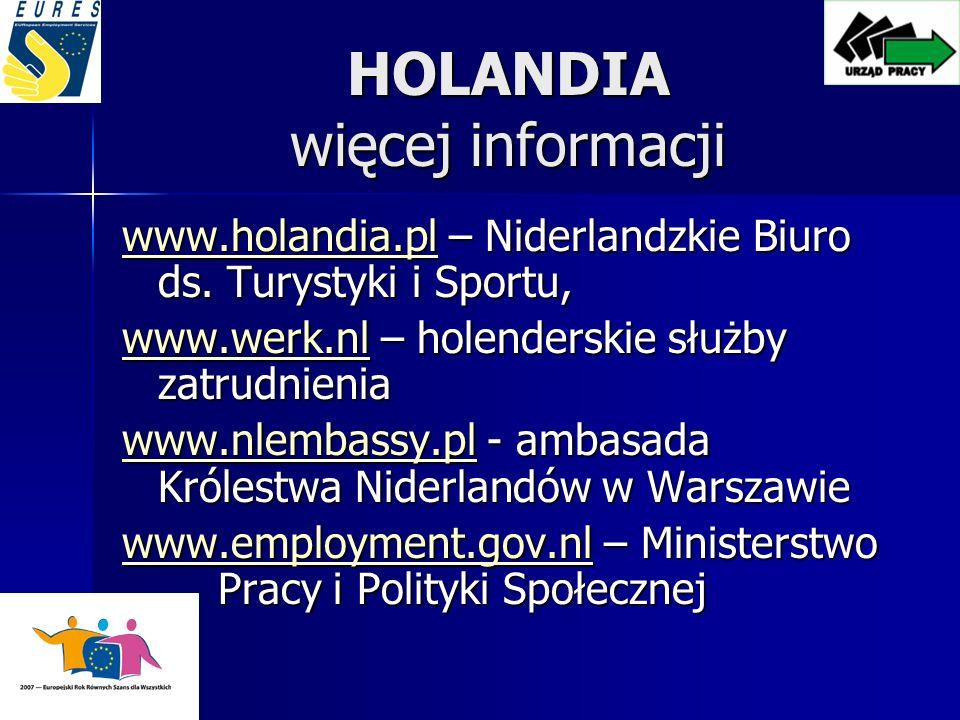 HOLANDIA więcej informacji