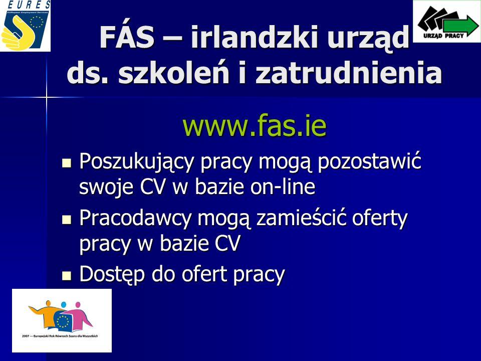 FÁS – irlandzki urząd ds. szkoleń i zatrudnienia