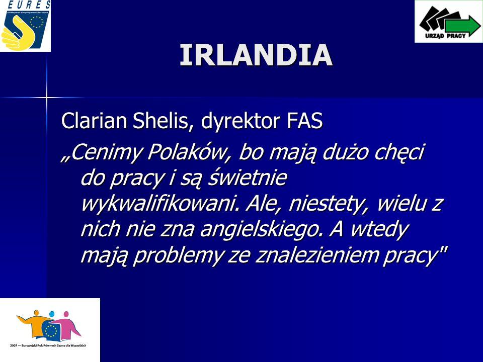IRLANDIA Clarian Shelis, dyrektor FAS