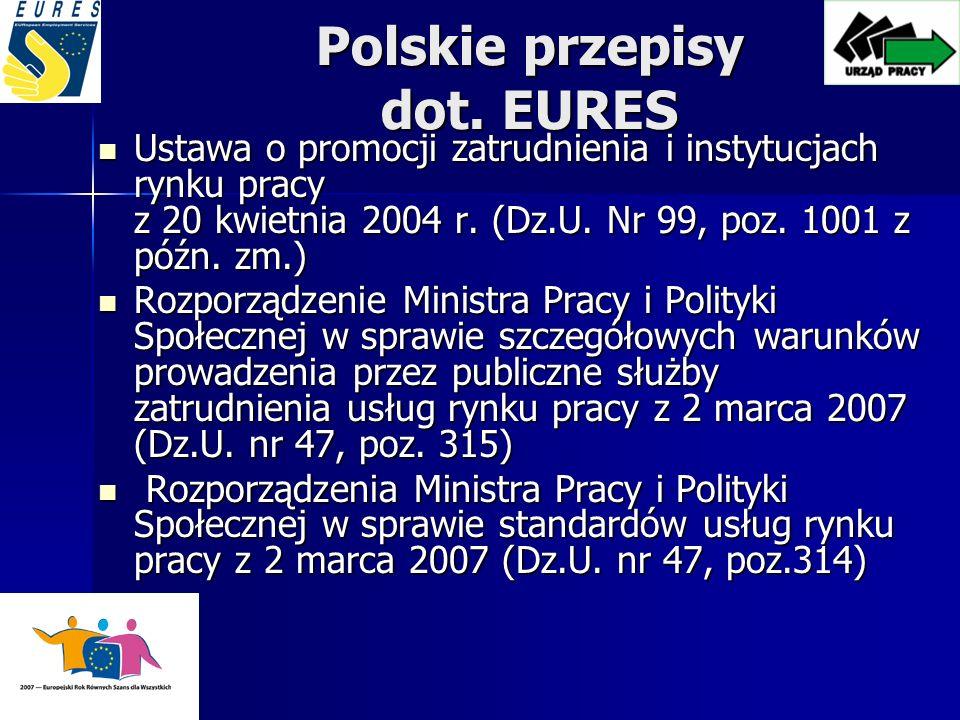 Polskie przepisy dot. EURES
