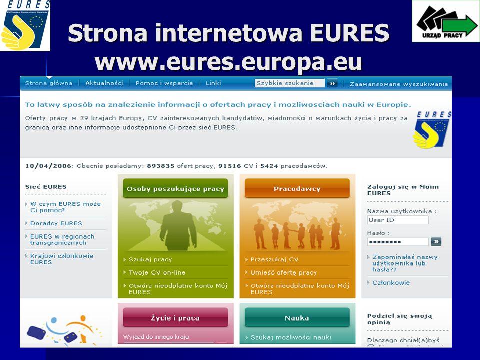 Strona internetowa EURES www.eures.europa.eu