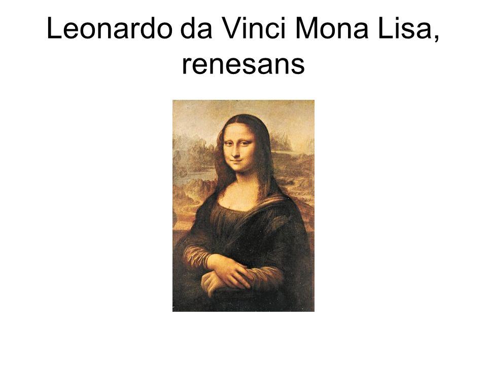 Leonardo da Vinci Mona Lisa, renesans