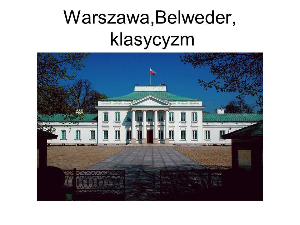 Warszawa,Belweder, klasycyzm