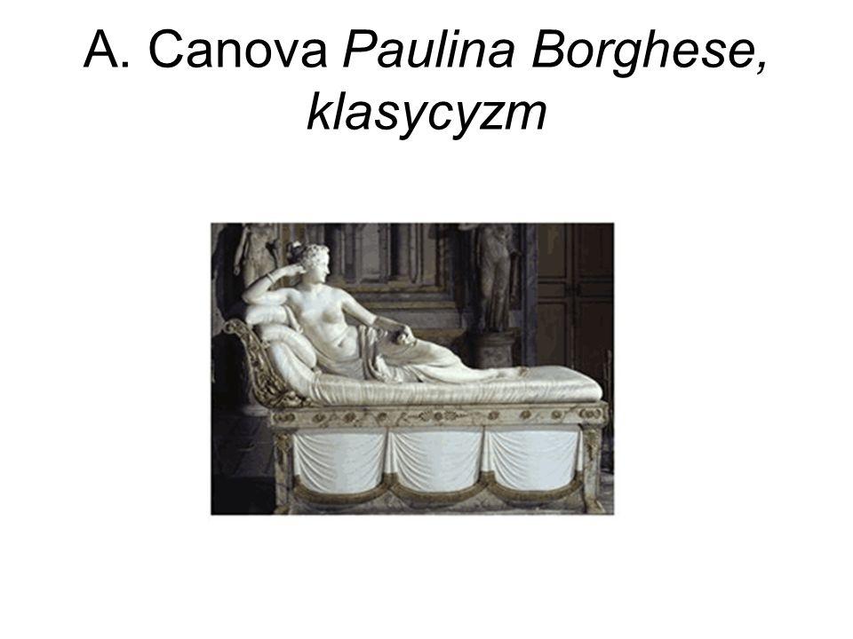 A. Canova Paulina Borghese, klasycyzm