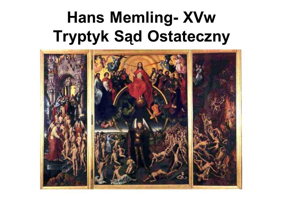 Hans Memling- XVw Tryptyk Sąd Ostateczny