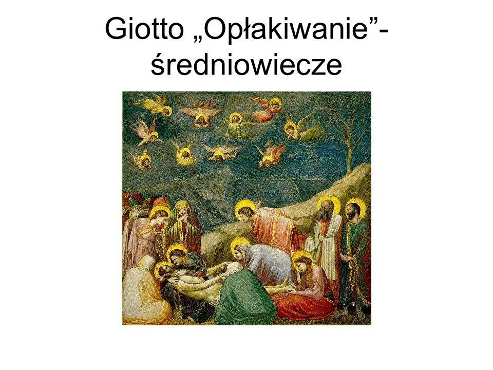 """Giotto """"Opłakiwanie - średniowiecze"""