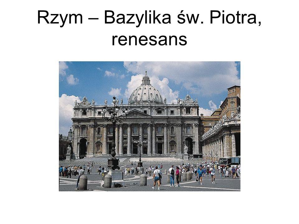 Rzym – Bazylika św. Piotra, renesans