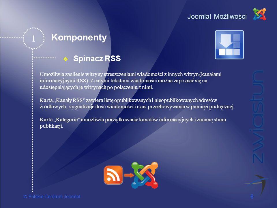 1 Komponenty Spinacz RSS Joomla! Możliwości