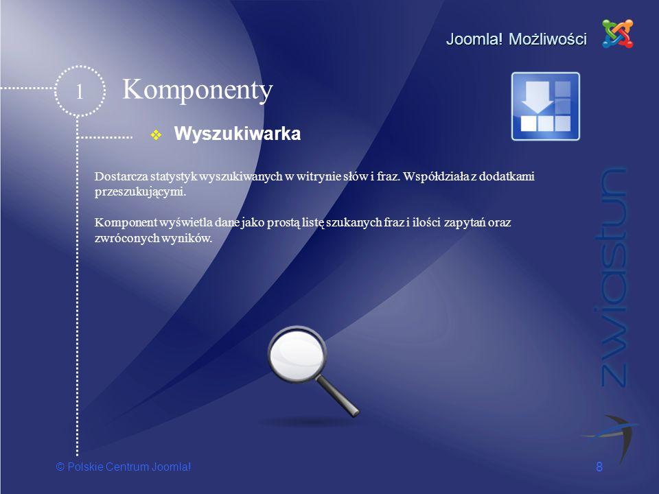 Komponenty 1 Wyszukiwarka Joomla! Możliwości