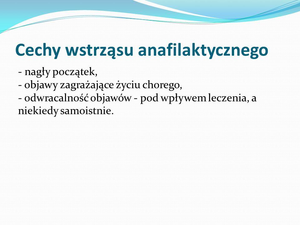 Cechy wstrząsu anafilaktycznego