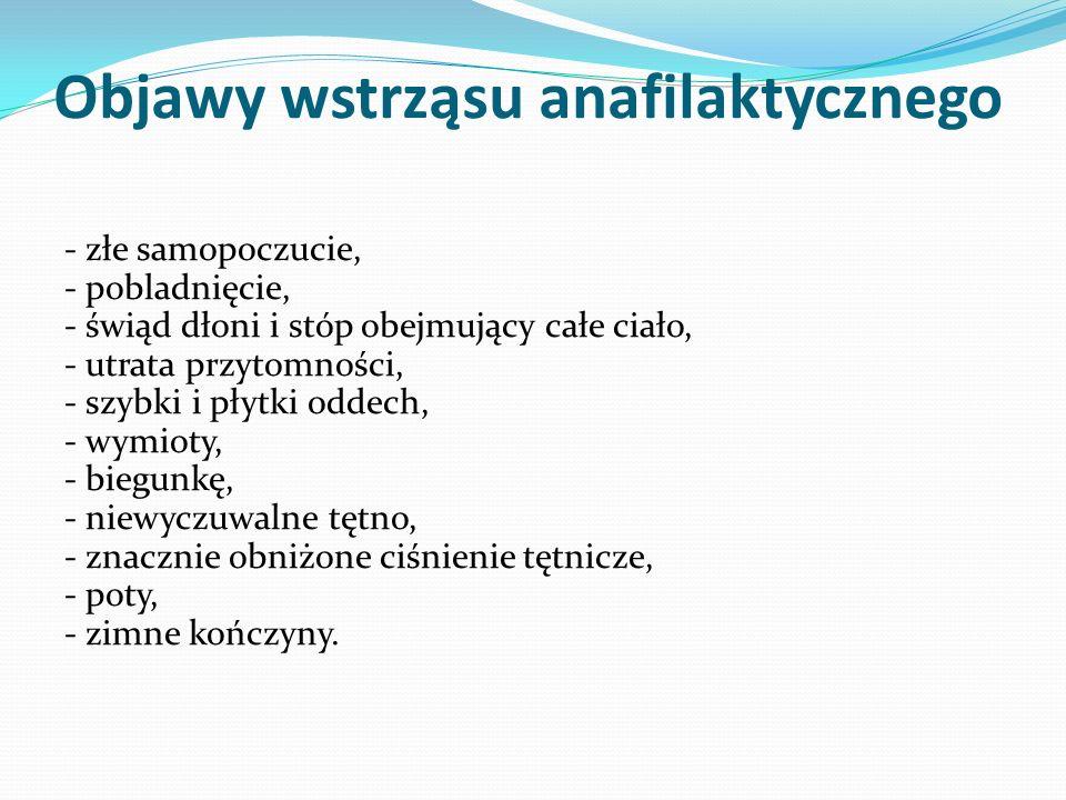 Objawy wstrząsu anafilaktycznego