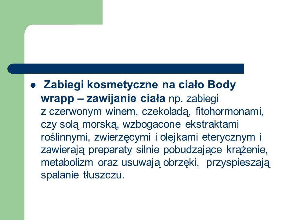 Zabiegi kosmetyczne na ciało Body wrapp – zawijanie ciała np