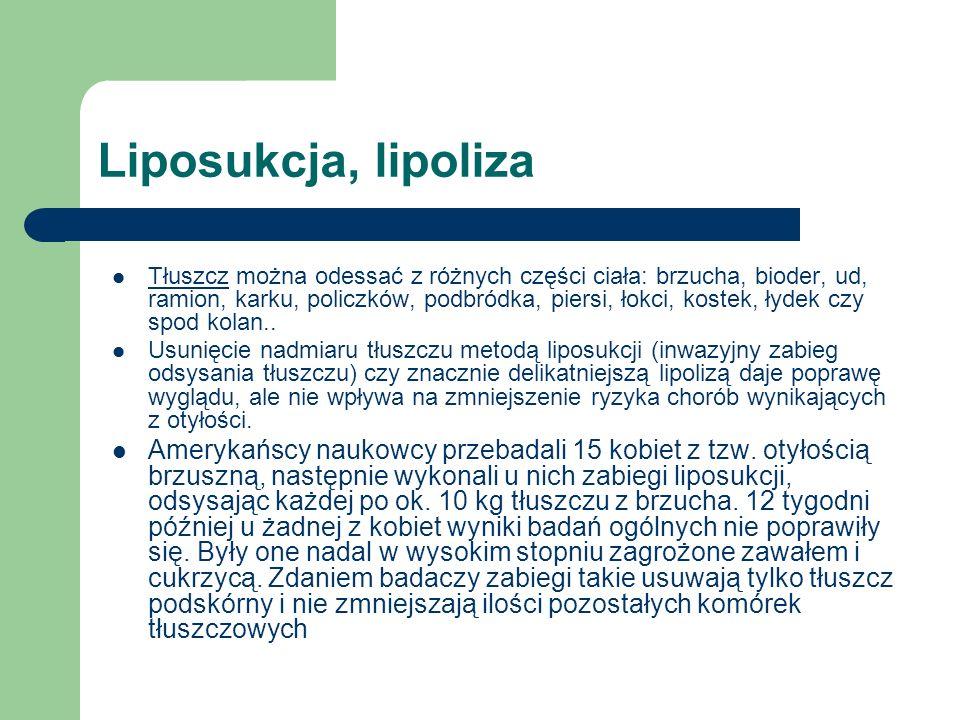 Liposukcja, lipoliza