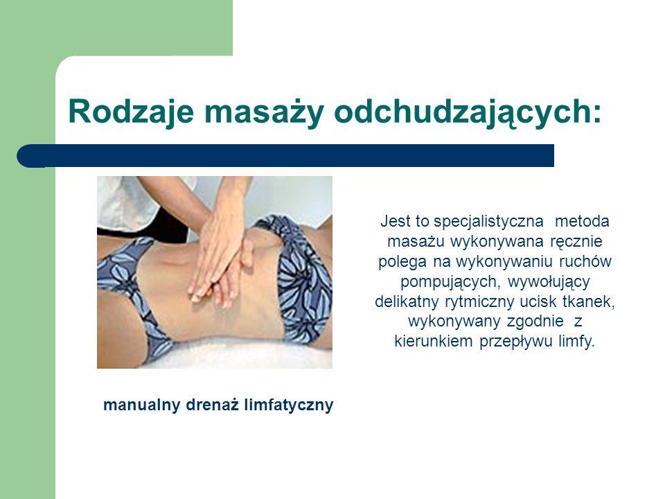 Rodzaje masaży odchudzających: