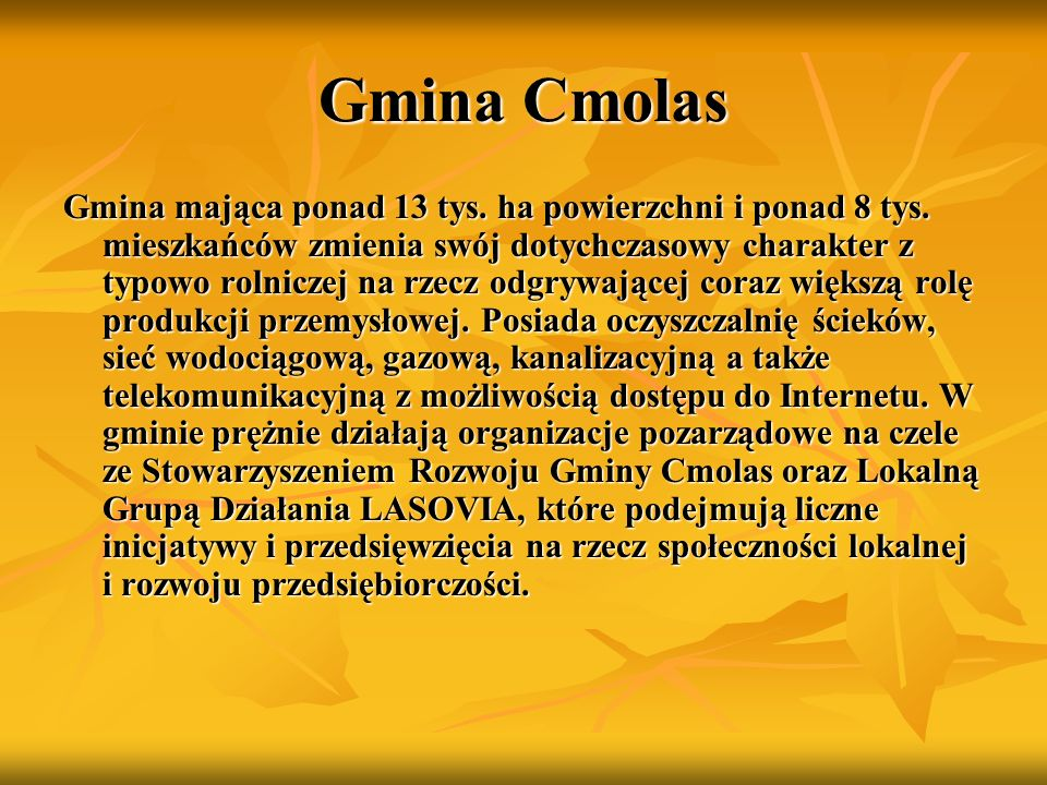 Gmina Cmolas