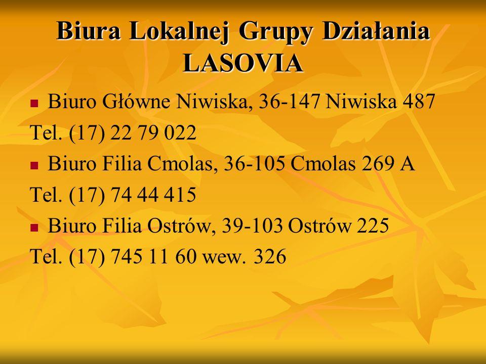 Biura Lokalnej Grupy Działania LASOVIA