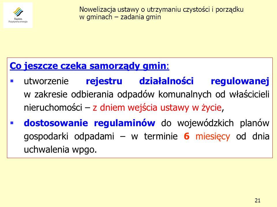 Co jeszcze czeka samorządy gmin: