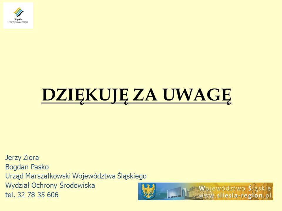 DZIĘKUJĘ ZA UWAGĘ Jerzy Ziora Bogdan Pasko