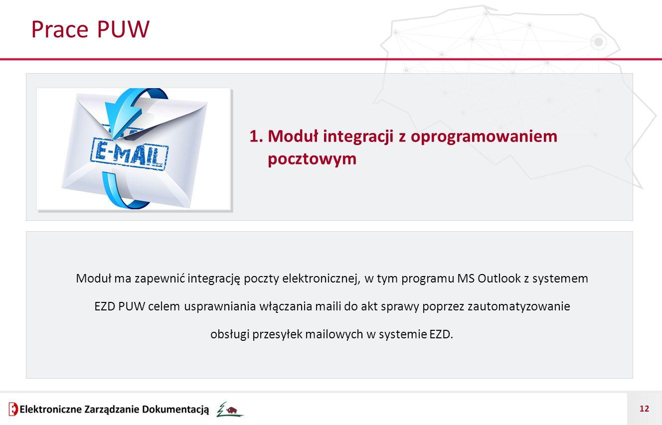 Prace PUW 1. Moduł integracji z oprogramowaniem pocztowym