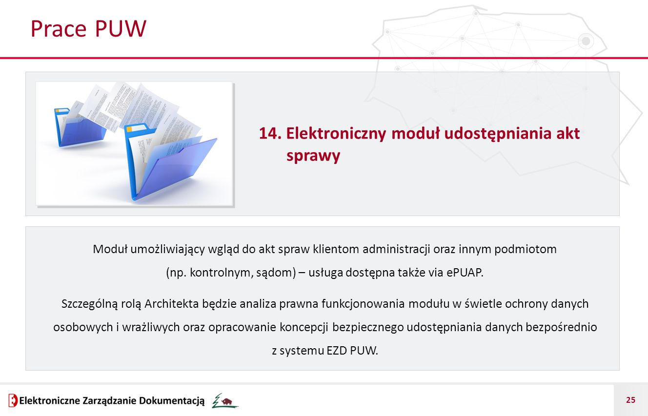 Prace PUW 14. Elektroniczny moduł udostępniania akt sprawy