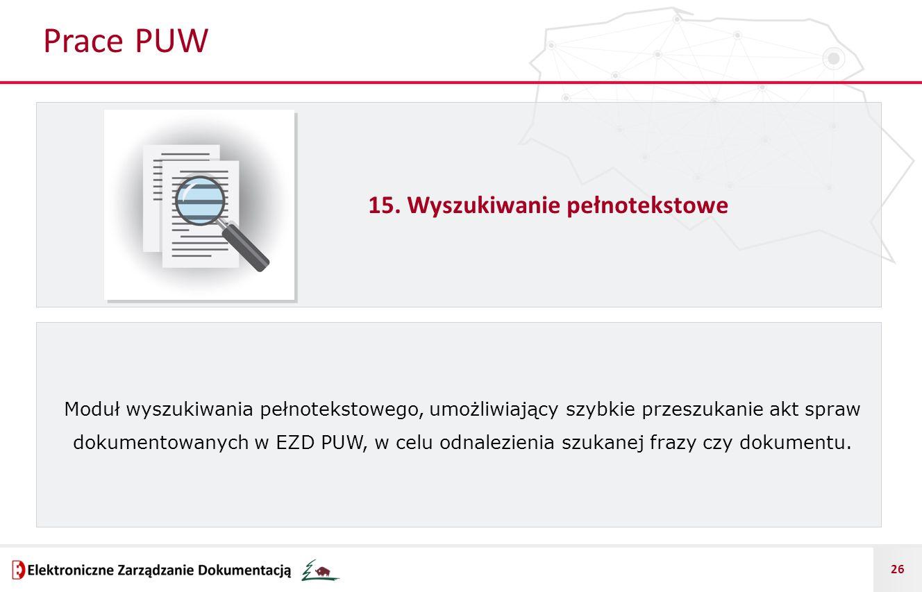 Prace PUW 15. Wyszukiwanie pełnotekstowe