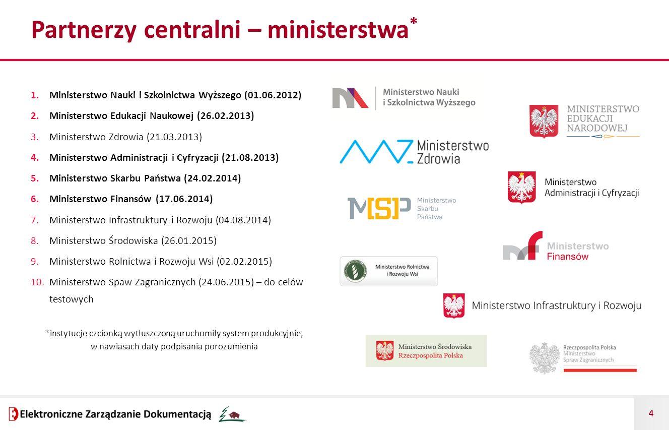 Partnerzy centralni – ministerstwa*