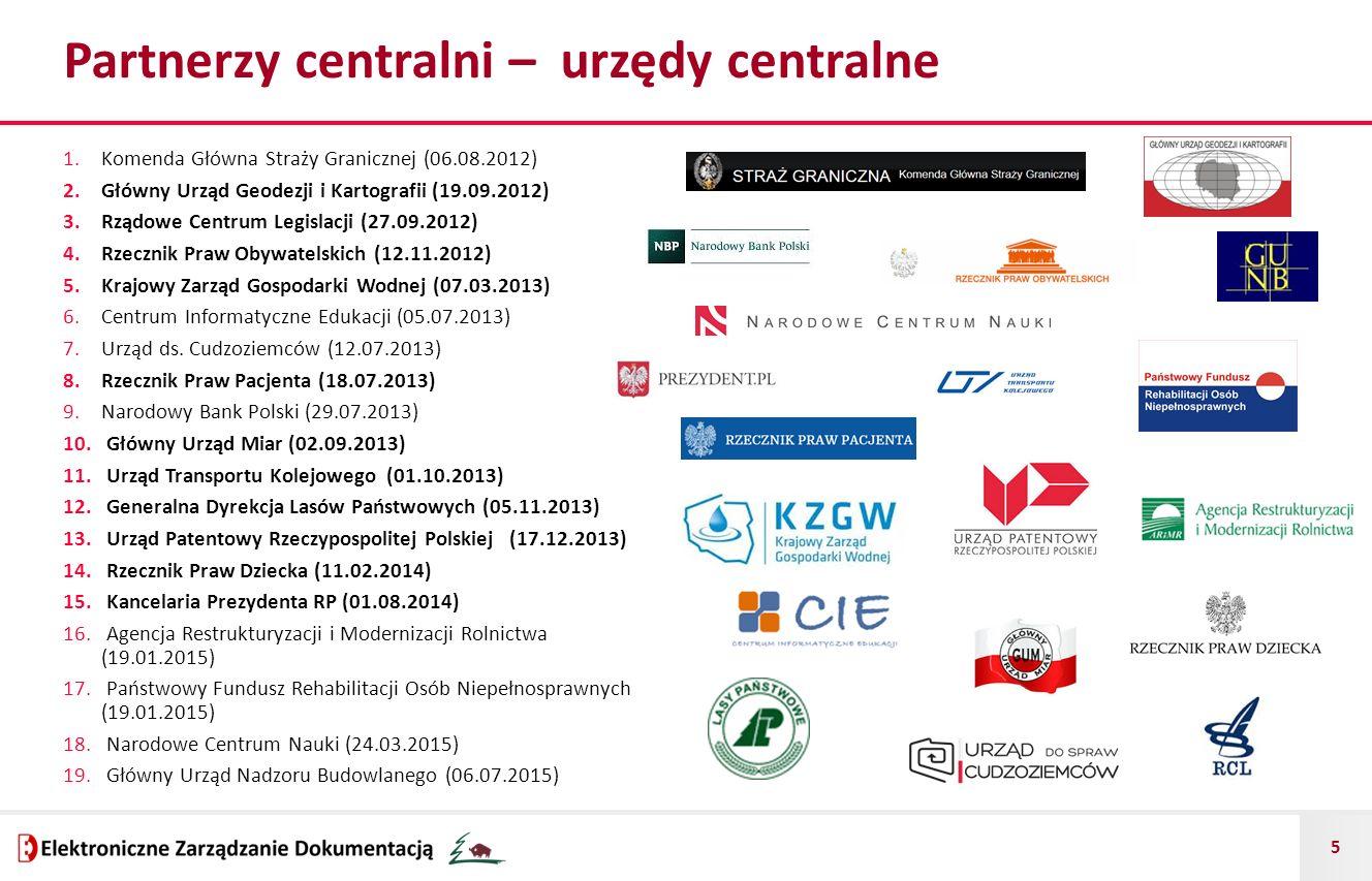 Partnerzy centralni – urzędy centralne