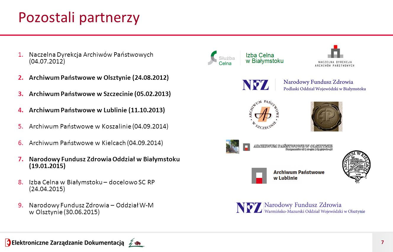 Pozostali partnerzy Naczelna Dyrekcja Archiwów Państwowych (04.07.2012) Archiwum Państwowe w Olsztynie (24.08.2012)