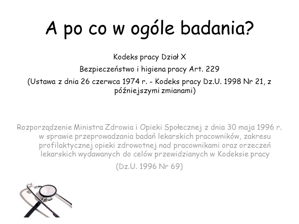 Bezpieczeństwo i higiena pracy Art. 229