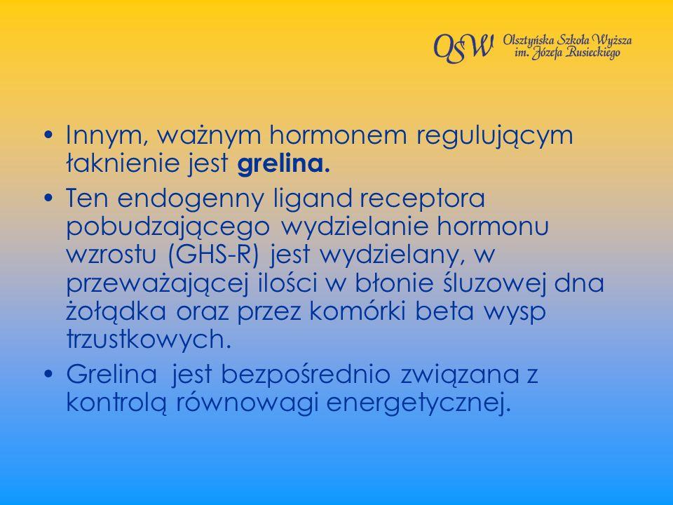 Innym, ważnym hormonem regulującym łaknienie jest grelina.